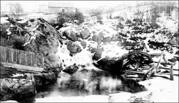 Finlayson Falls near Government Street c. 1860. BC Archives A-03011
