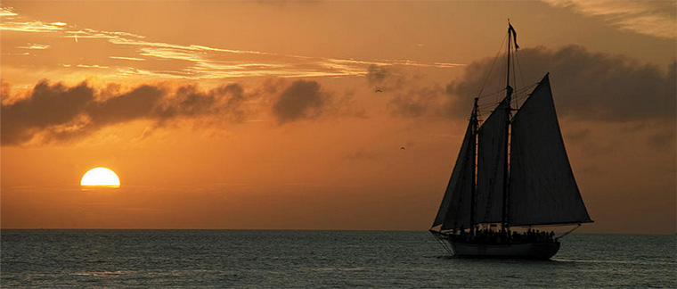 Sailing Into The Sunset by Robert Shard