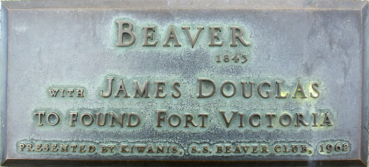Plaque 40 The steamboat Beaver