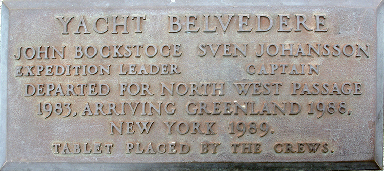 Plaque 14 Yacht Belvedere