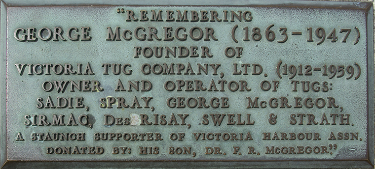 Plaque 06 McGregor