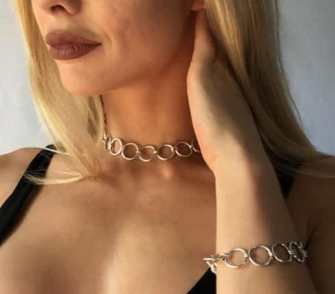 Jo necklace and bracelet