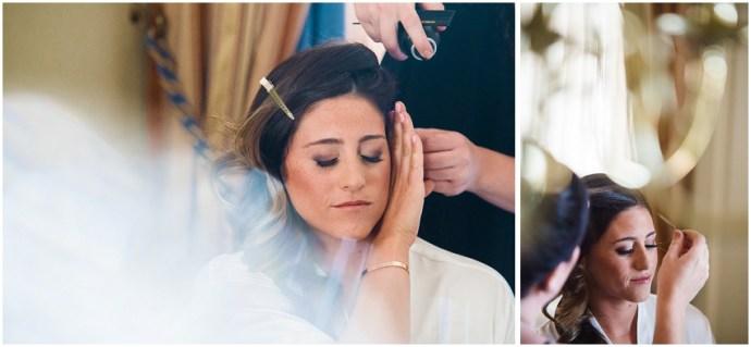 Bride getting ready at the Biltmore in LA