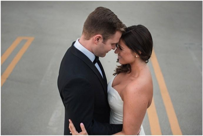 Romantic downtown LA wedding portrait