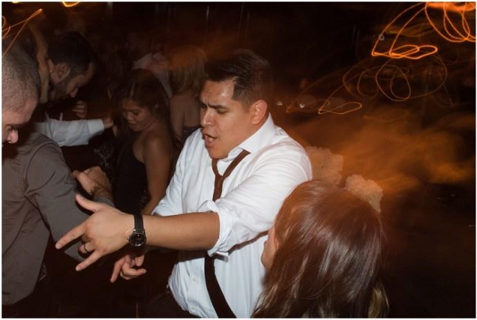 Dragging shutter wedding reception image