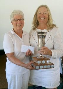 Dewar Cup Womens Pairs Winners 2016  Marg Dufour  Debra Whitman