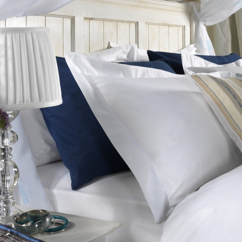super king pillow case in 1000 thread count cotton white or ivory 107 x 50cm