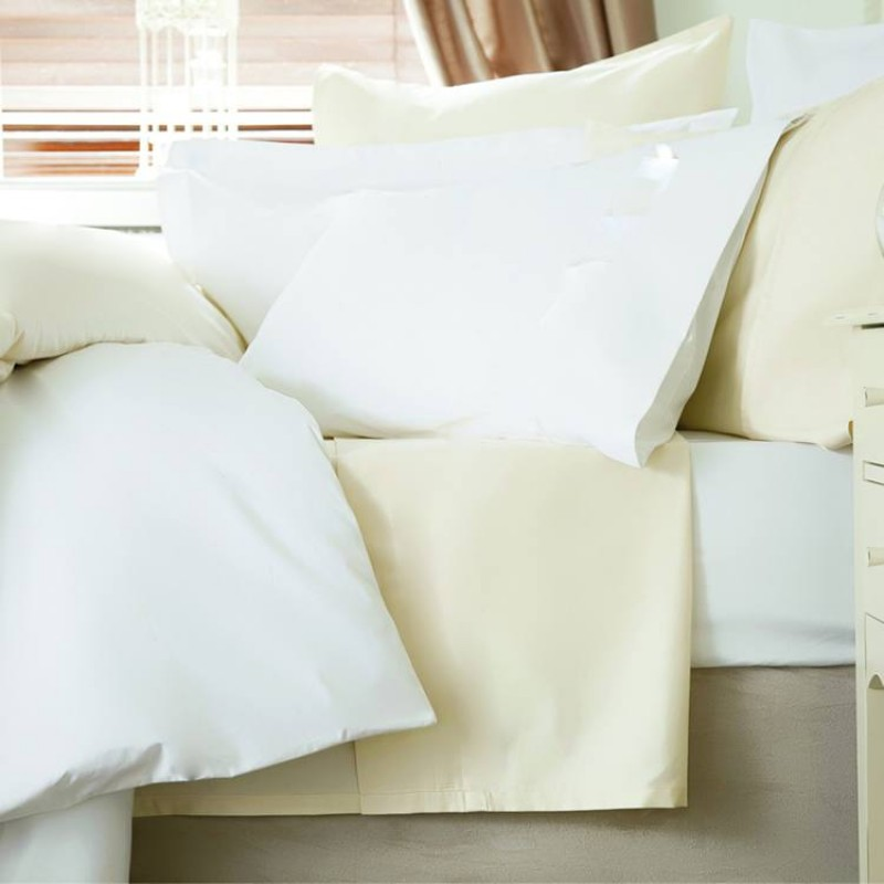 euro ikea double fitted sheet in 100 cotton white or ivory 140 x 200cm