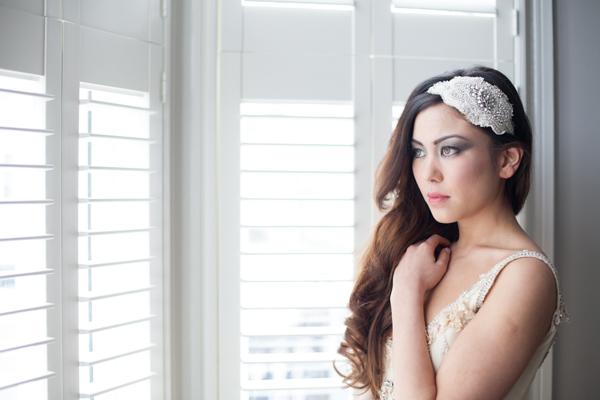 Vintage Bridal Cap Silk Headpiece