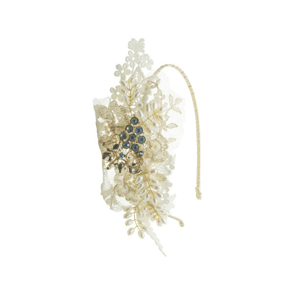 vintage lace side tiara