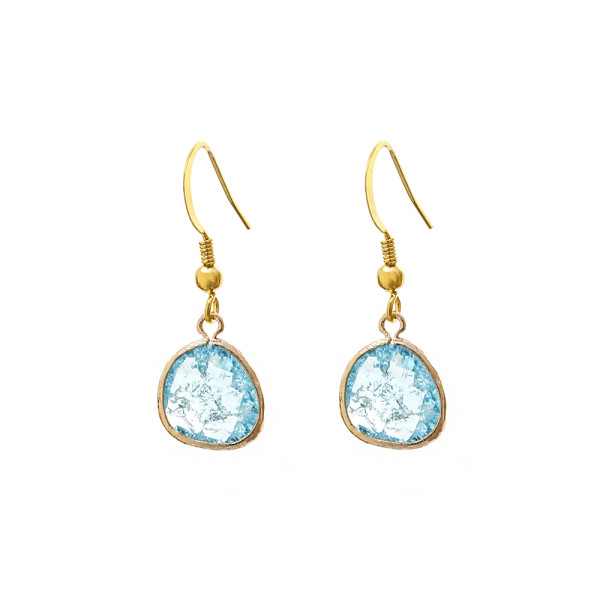 VICTORIA MILLESIME GD-E27-Gold-Dust-Bridesmaid-Earrings-Shattered-Ice copy