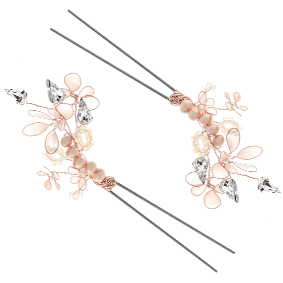 VICTORIA MILLESIME GD-P11-Cherry-Blossom-Rose-Gold-Hairpin-2