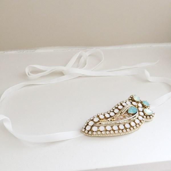 Victoria-Millesime-Bespoke-Blue-Gold-Bridal-Belt