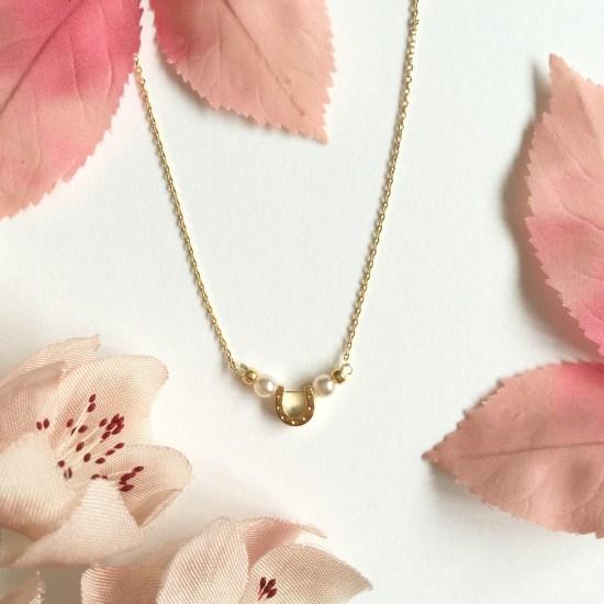 Gold Horseshoe Bridesmaid Necklace