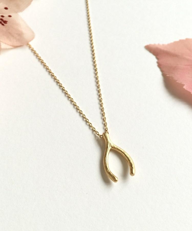 Wishbone Bridesmaid Necklace Gift