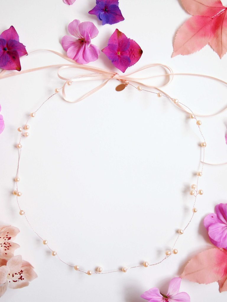 Blush Pink Pearl Bridal Halo