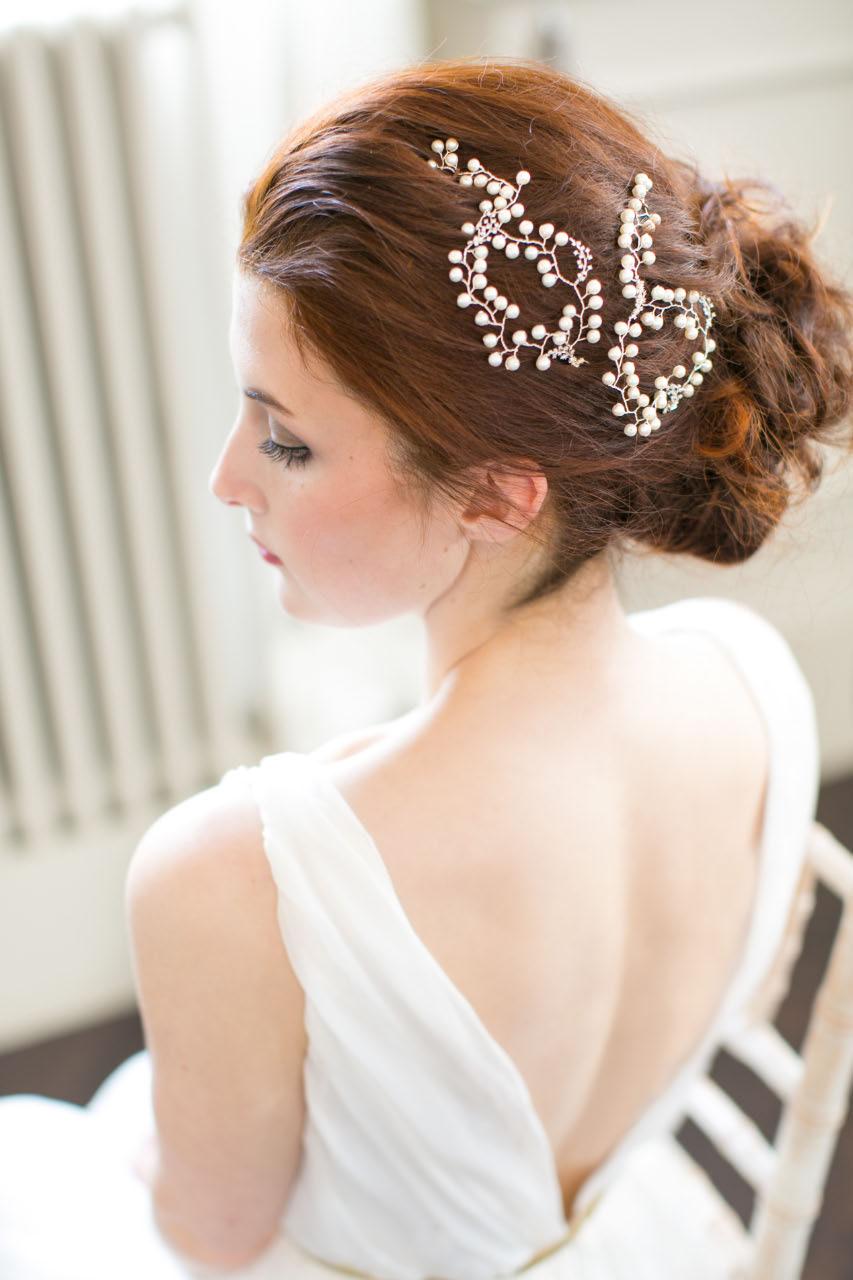 Handmade Pearl Hair Vine Pins