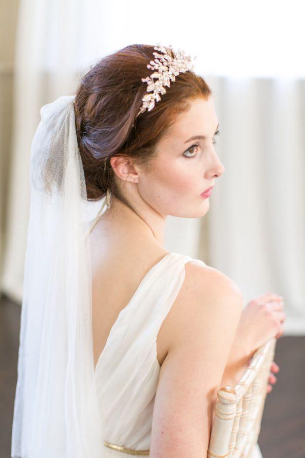 Handmade Flower Queen Pearl Bridal Tiara