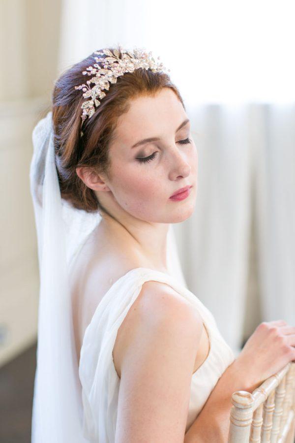 pearl flower bridal tiara