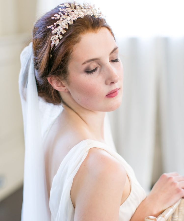 pearl flower bridal tiara