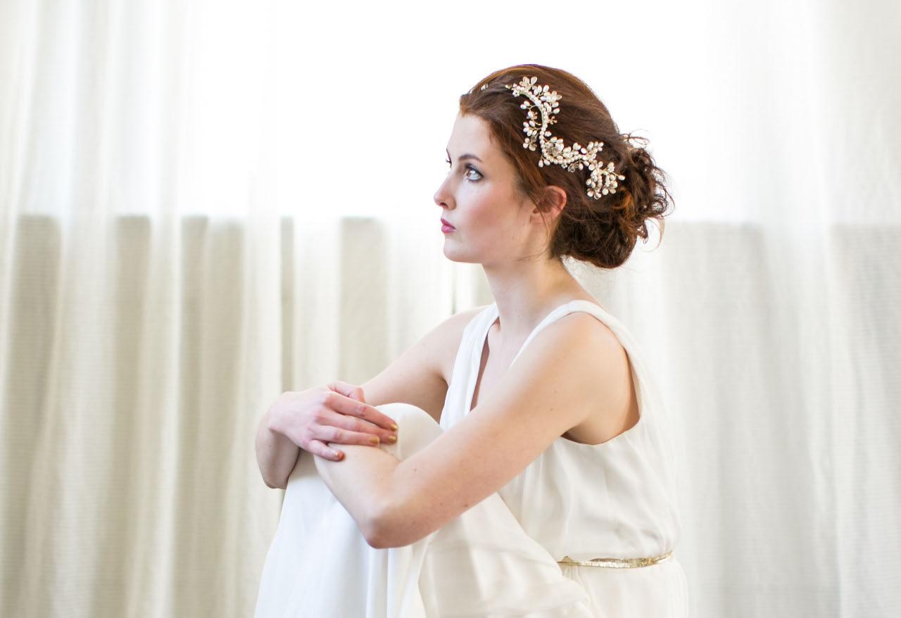 Pearl Floral Hair Vine
