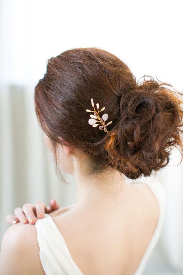 Rose Quartz Bridal Hair Pin