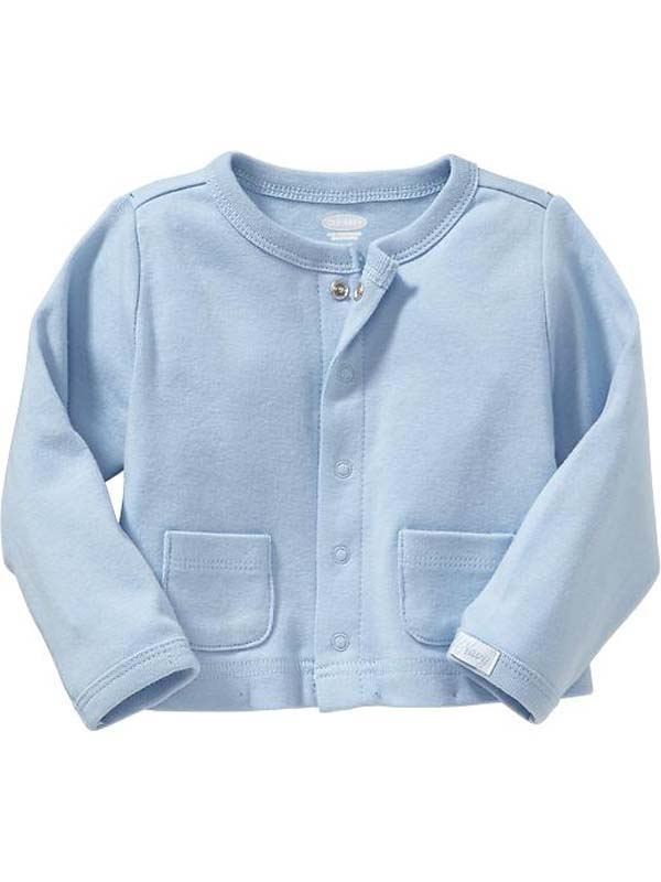 Baby Girl Summer Garden Party Blue Cardigan