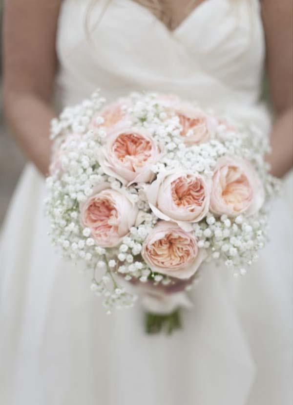 Baby's Breath Bridal Bouquet Ideas