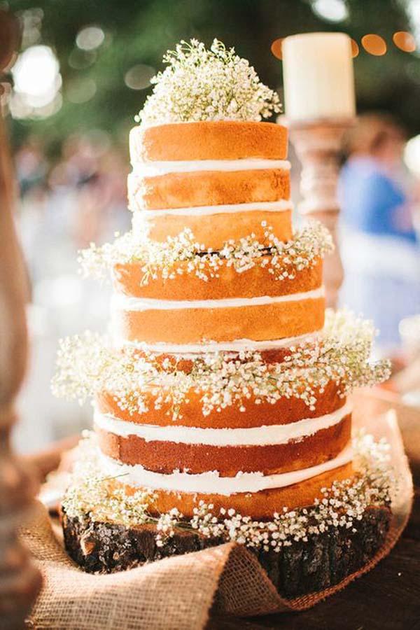 Baby's Breath Wedding Cake