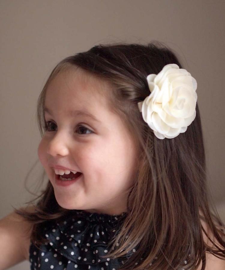 Ivory Flower Girl Hair Clip