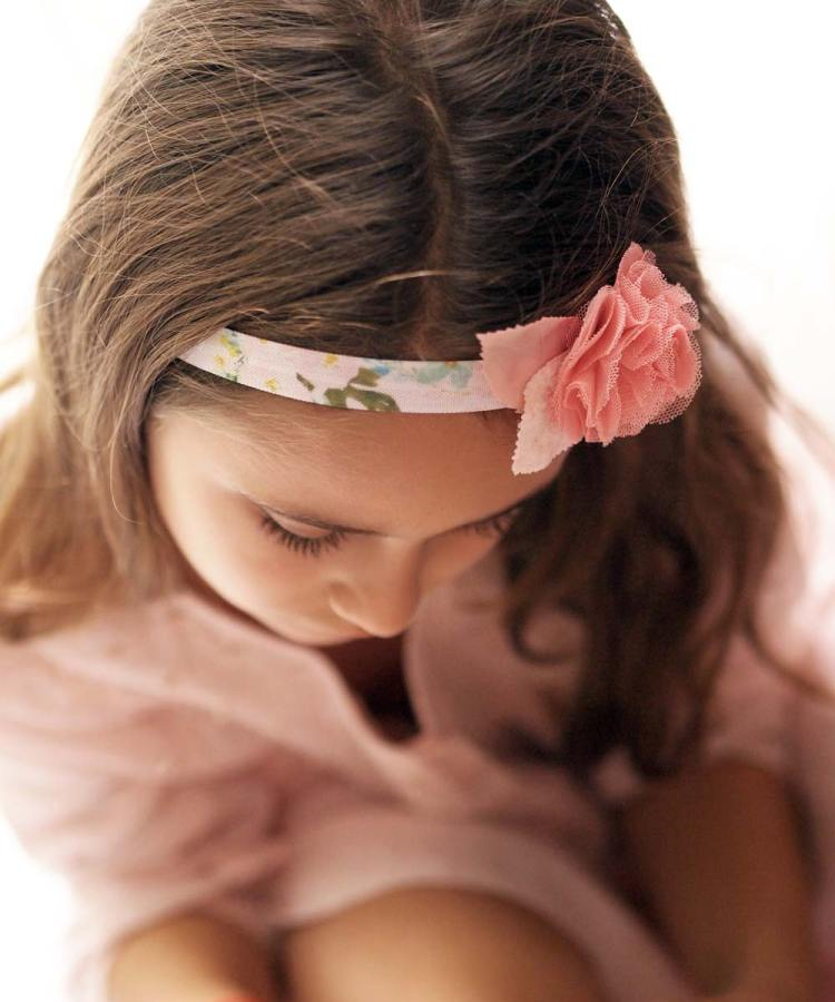 Julia Watercolour Floral Baby and Girls Headband