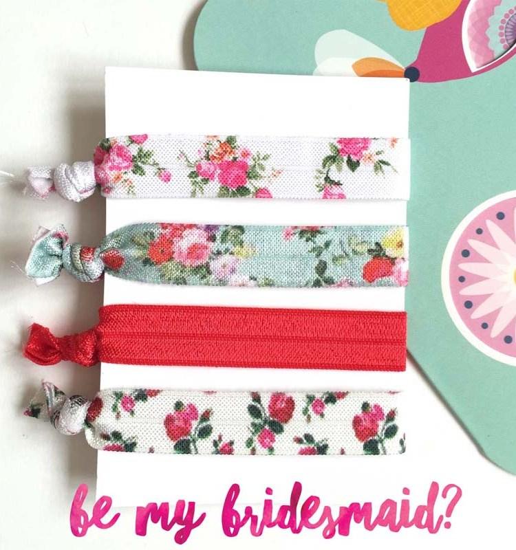 Country-Florals-elastic-hair-ties-bridesmaid-gift