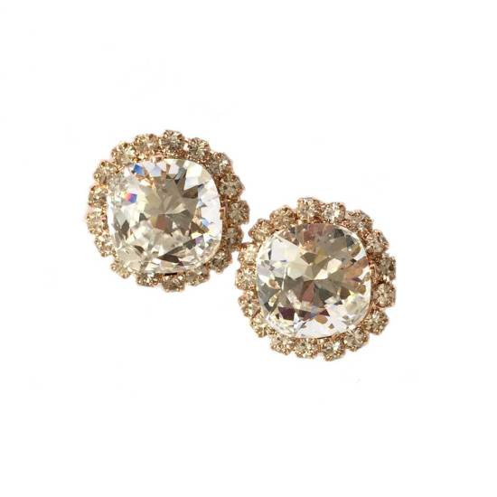 Rose Gold Swarovski Crystal Earrings