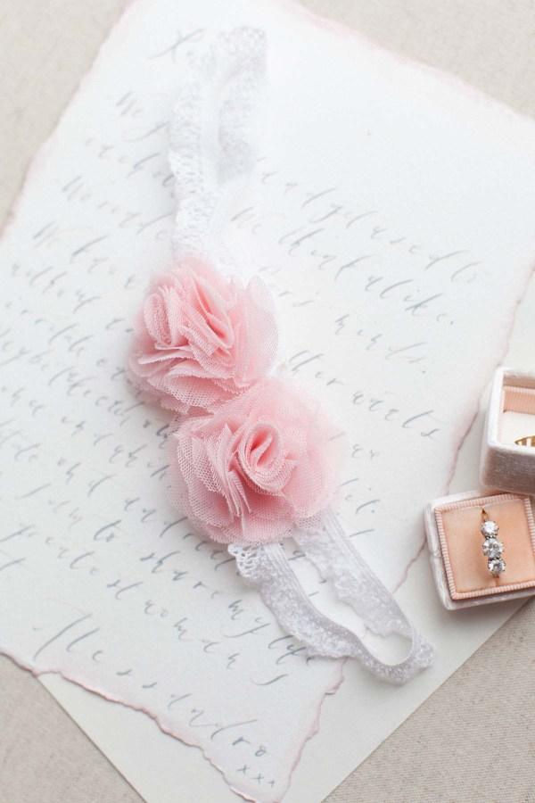 blush pink roses wedding garter belt