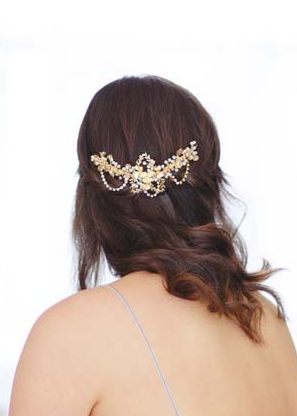 Tessa Gold Bridal Hair Comb