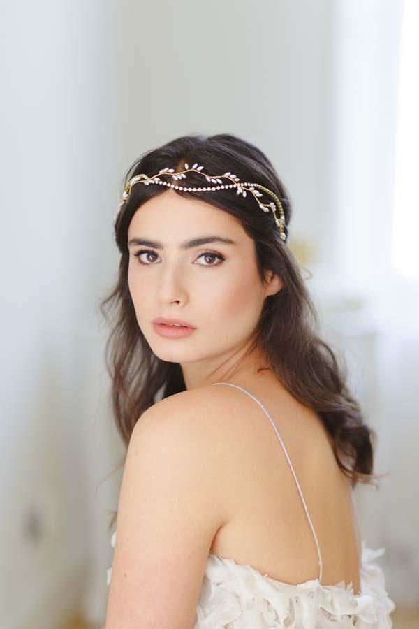 Thea Grecian Sparkle Wedding Halo