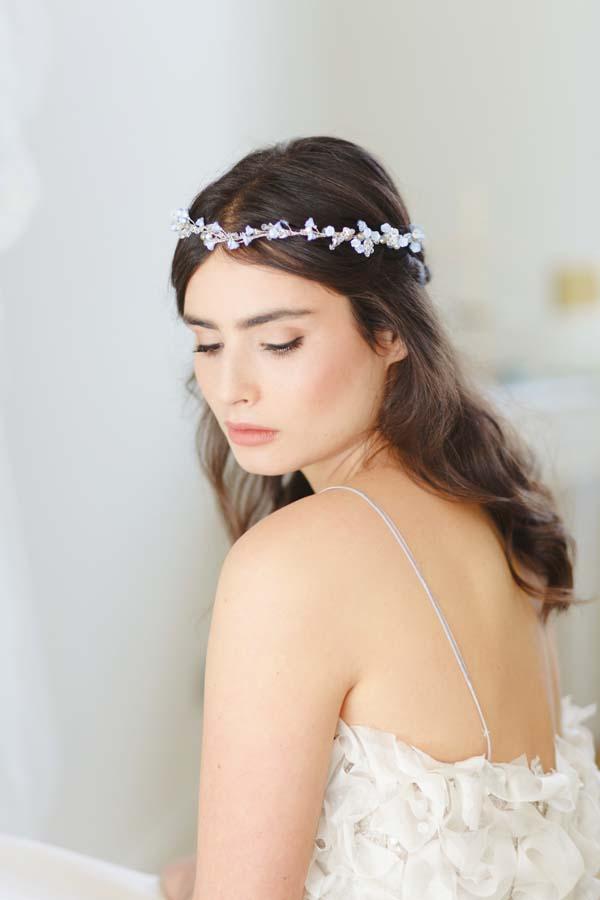 Iris II Blue Wedding Halo