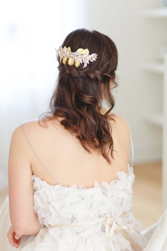Arabella Statement Gold Wedding Hair Comb