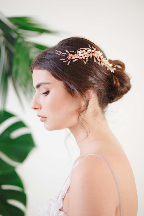 Freya Rose Gold Hair Vines