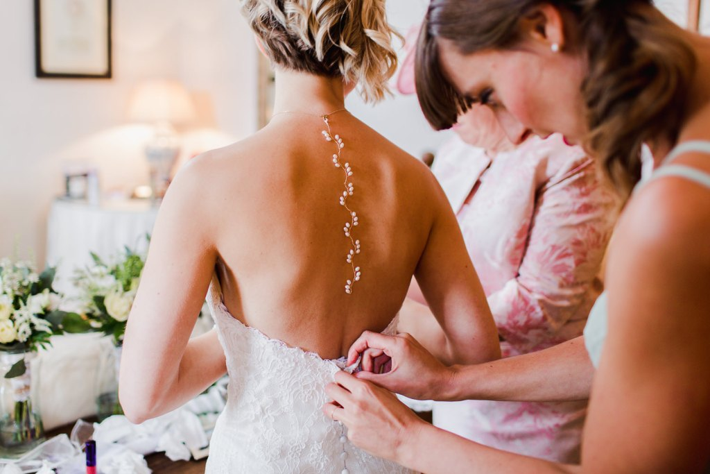 bridal back necklace