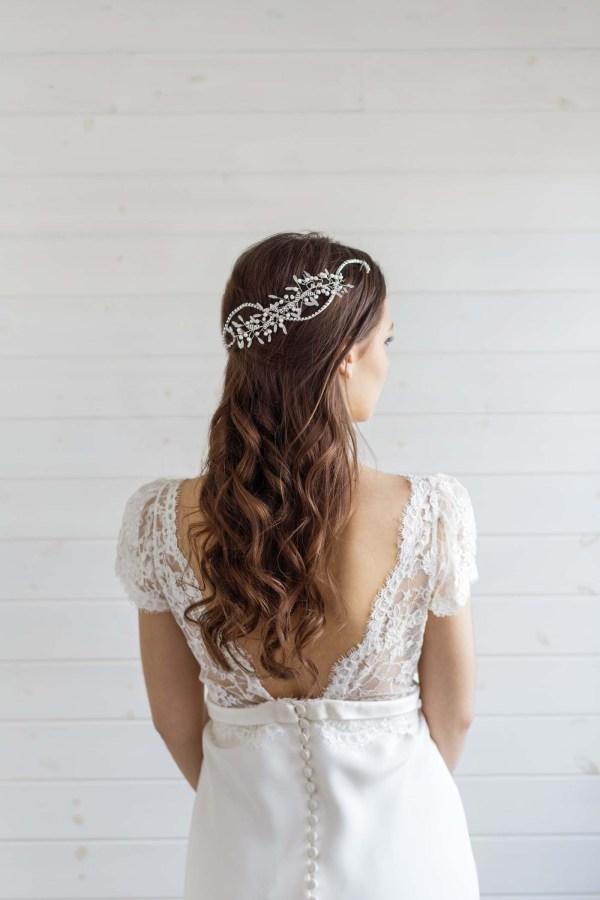Delphinium wedding hair vine UK