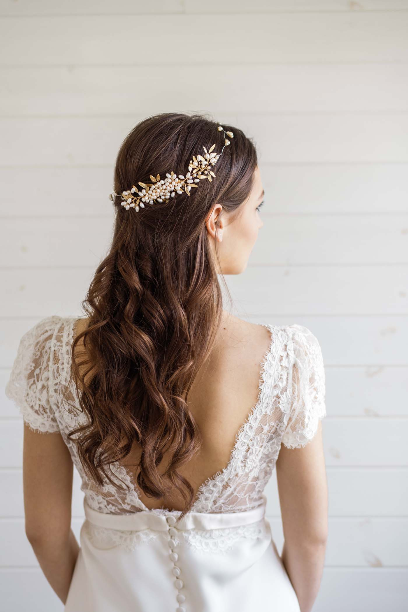 aster pearl wedding hair comb - victoria millesime