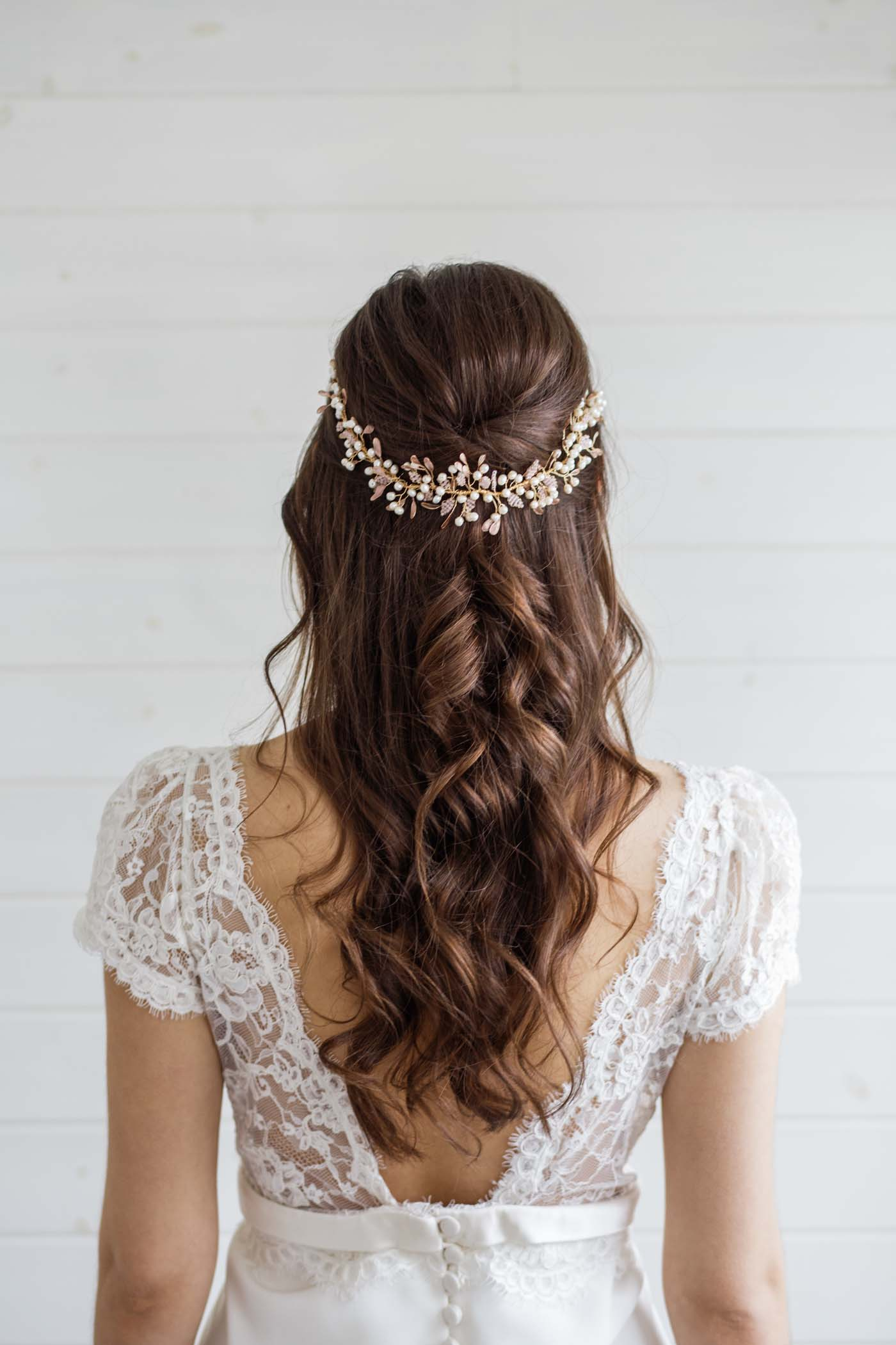 Aster Statement Wedding Hair Vine Victoria Millesime