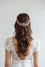 aster statement wedding hair vine