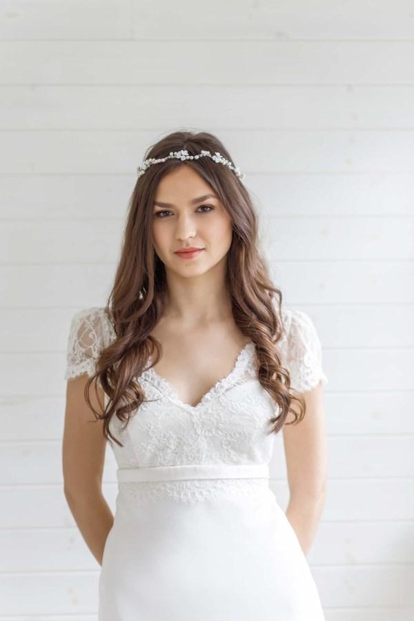 Calla Lily Wedding Hair Vine
