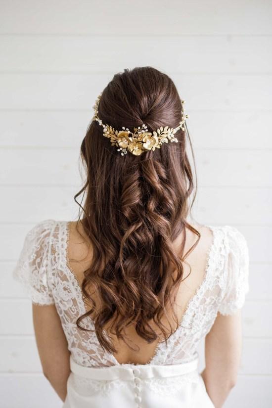 Carris Gold Wedding Crown