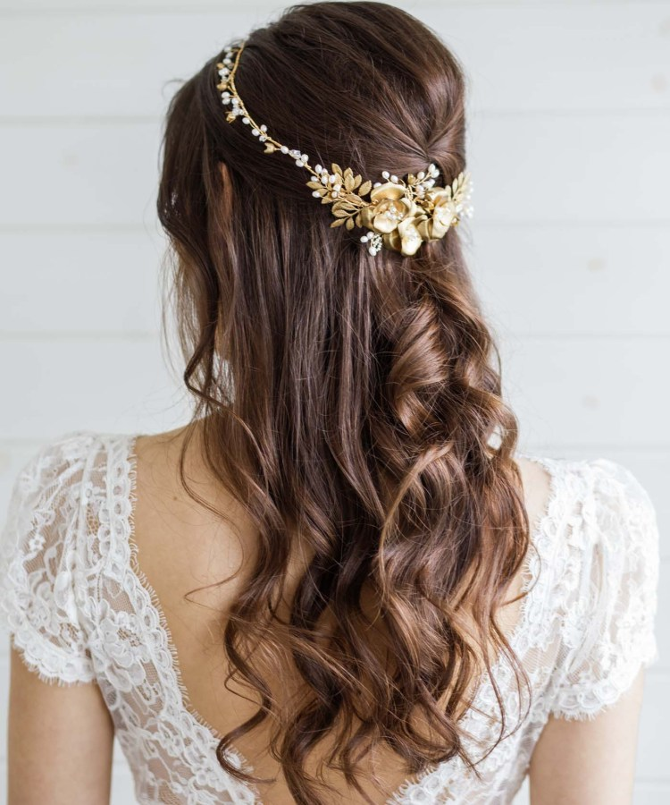 Carris Gold Wedding Crown