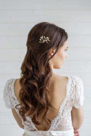 delphinium bridal hair pin - victoria