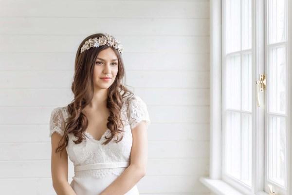 Etoile Gold Wedding Crown