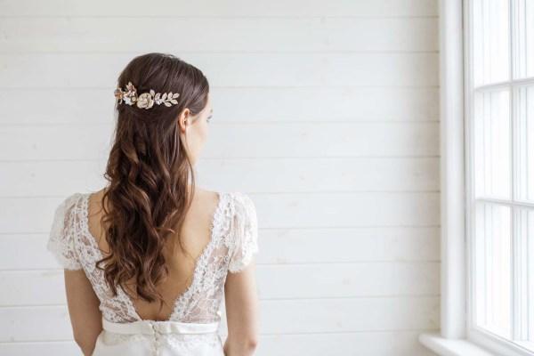 Etoile Gold Wedding Hair Comb Bridal